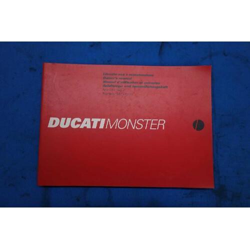 35810★DUCATI ドカティ MONSTER モンスター900S/Cromo ★オーナーズマニュアル★配線図付き★ドゥカティ