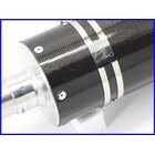 【M4】良品♪ゼファー750 アサヒナレーシング EXTEC 湾岸スペシャル カーボンスリップオンマフラー♪130mm♪