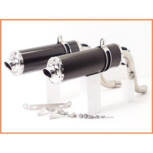 ★ 《M3》良品♪モンスター M900 SHARK Oval カーボンスリップオンマフラー♪High-UP♪M400♪