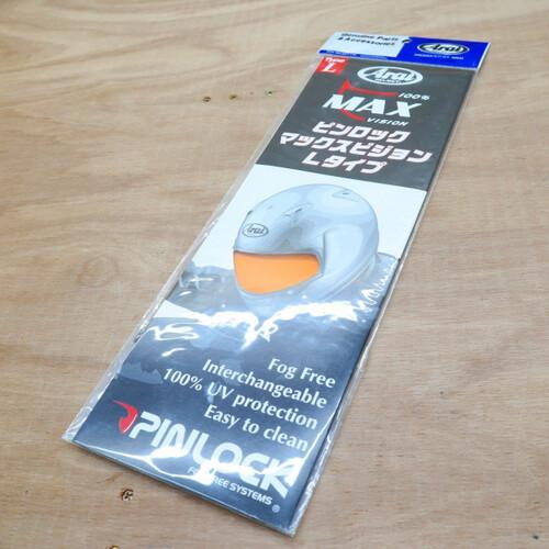 ARAI アライ ヘルメット パーツ 1144 MAX-V ピンロックシート オレンジ 210107TD0402