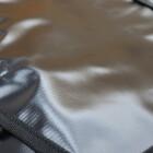 #9649 メッセンジャーバッグ ターポリン 黒/金 210107TD0061
