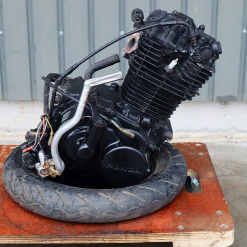 CB125JX(改) 外し 純正 TLR200 実動 エンジン ASSY MD09E-101**** 200908HD1031