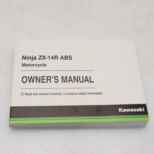 オーナーズ マニュアル ZX-14R ABS OWNER'S MANUAL 英語版 191202BD0891