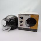 未使用品★石野商会 MAX-57W セミジェットヘルメット フリーサイズ ブラック/チタンカラー 200402UD0004
