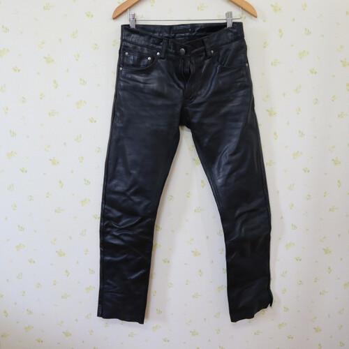 中古品★Liugoo Leathers/リューグーレザーズ ストレート レザーパンツ 30サイズ 200402UD0222