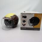 未使用品★石野商会 MAX-57W セミジェットヘルメット フリーサイズ ブラウン/アイボリーカラー 200402UD0014