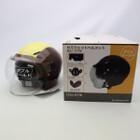 未使用品★石野商会 MAX-57W セミジェットヘルメット フリーサイズ ブラウン/アイボリーカラー 200402UD0013