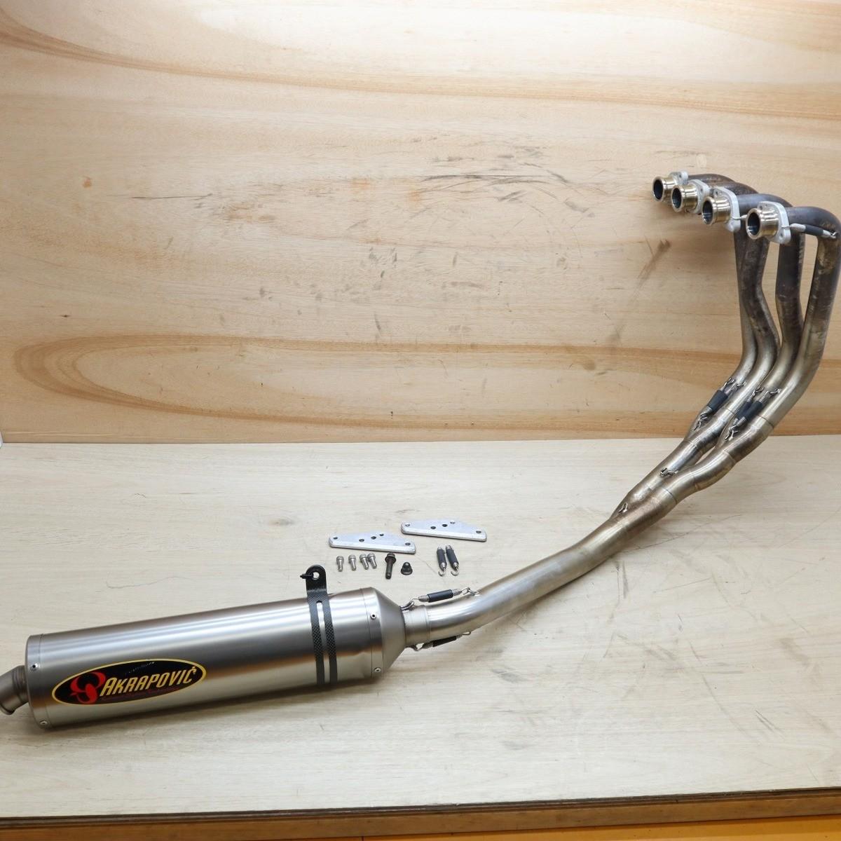 ヤマハ XJR1300 AKRAPOVIC/アクラポビッチ レーシングライン フルエキゾーストマフラー サイレンサー 210921BD0193